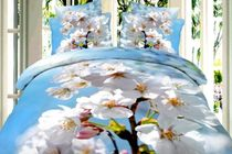 Satin bed linen 3D Apple tree