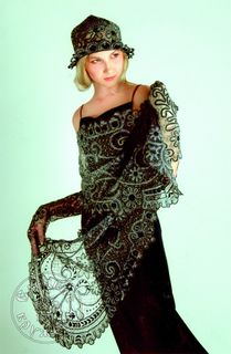 Scarf womens lace С1916