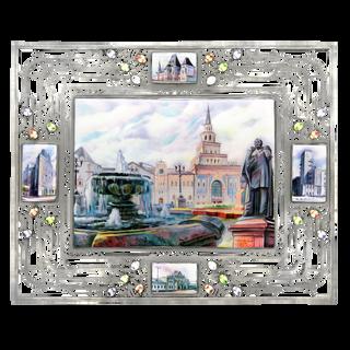 Rostov enamel / Panel in a metal frame