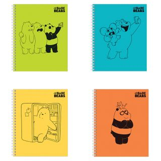 Notebook, A5, 48 sheets, HATBER, comb, cage, cover cardboard,