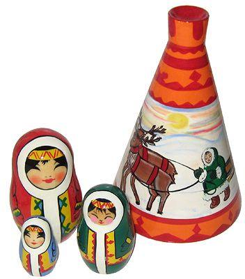 Matryoshka Chum - Russian doll booklet, 4-seater