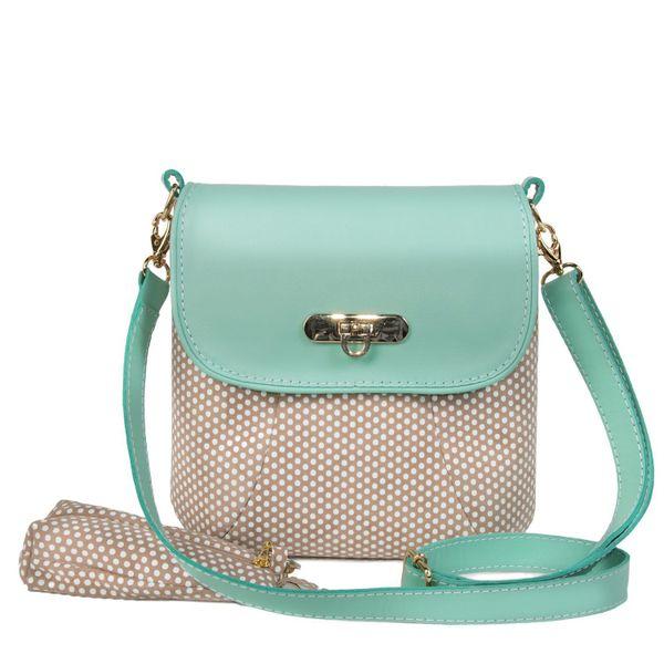 """Leather bag """"Paris"""" mint color"""