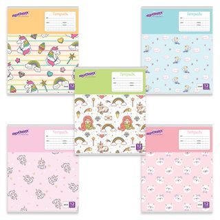 "Notebook 12 sheets UNLANDIA line, cardboard cover, ""ERALASH"""