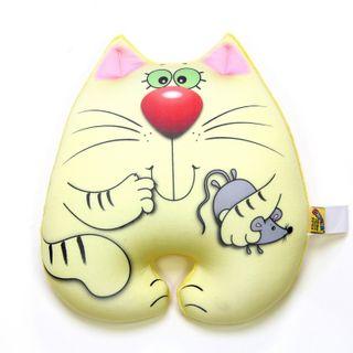 """Anti-stress toy """"cat Myshkin"""" large, lemon"""