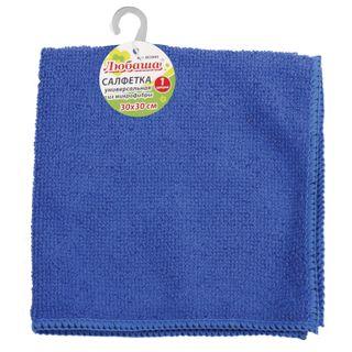 LYUBASHA / Universal napkin ECONOMY microfiber, 30x30 cm, blue