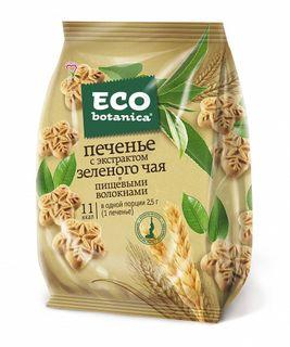 Cookies Eco Botanica green tea extract and dietary fiber, 200 gr.