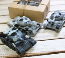 Handmade soap Tank Snow Leopard
