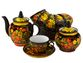 Tea set with Khokhloma painting - view 1