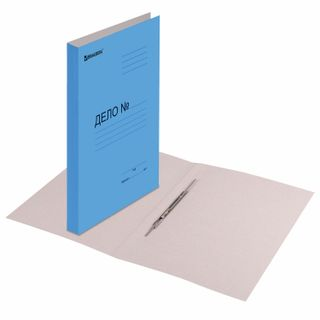 File folder cardboard coated BRAUBERG, guaranteed density 360 g/m2 blue, up to 200 sheets