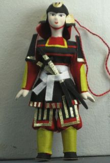 Doll gift. Samurai in 17th century Japan