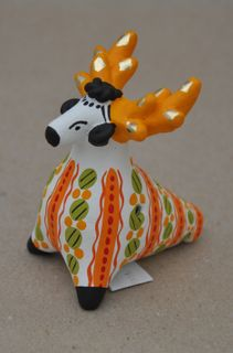 Dymkovo clay whistle Deer