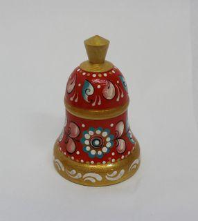 "Salt shaker wooden ""Shenkurskiy red painted"" height 11 cm"