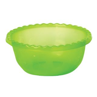 IDEA / Salad bowl for cooking and storage, height 14 cm, diameter 35 cm, round, light green, 8 l