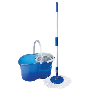 LIMA / Cleaning set, bucket 14 l / 5 l with wringer, mop with round nozzle (2 pcs., Fastening ring)