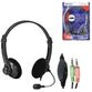 DEFENDER / Headphones with microphone (headset) Aura 104, wired, computer, 1.8 m, black - view 1