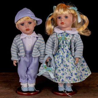 "Porcelain dolls ""Anna and Nicholas"""