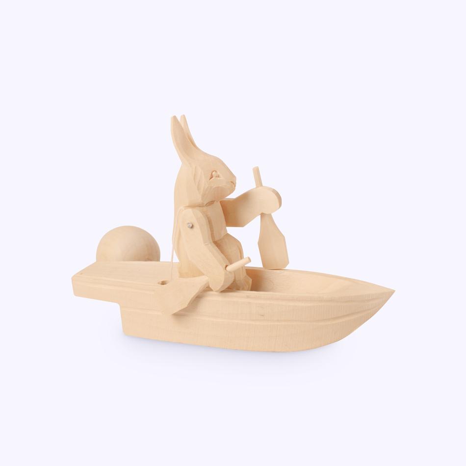 "Bogorodskaya toy / Wooden souvenir ""Rescuer"""