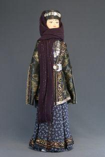 Doll gift porcelain. Tiflis. The Caucasus. Women's traditional Tatar costume. 19 K. V.