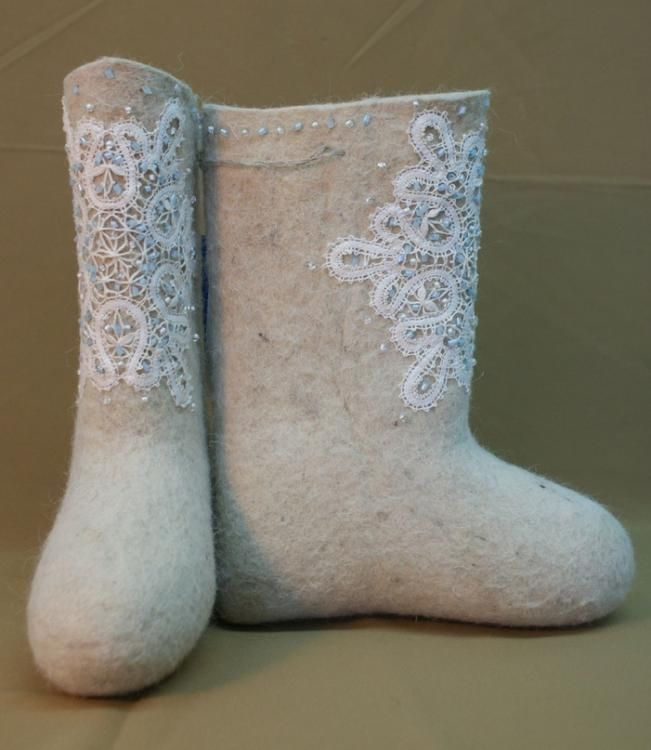 Children's boots with lace-handmade