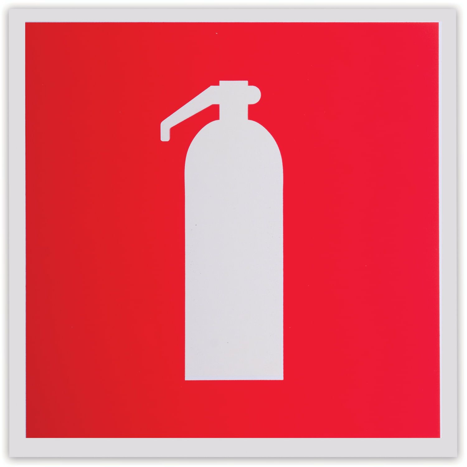 """Fire safety sign """"Fire extinguisher"""", 200x200 mm, self-adhesive, photoluminescent"""