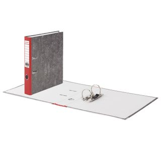 Folder-Registrar BRAUBERG, texture standard, with marble flooring, 50 mm, red spine