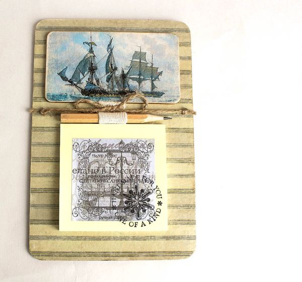 Fridge magnet Sailboat with a unit for records