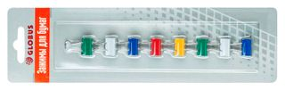 The holders 15 mm, 8 PCs assorted color, blister