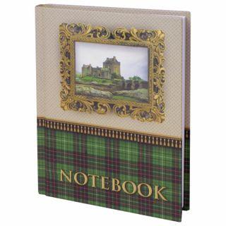 Small FORMAT Notebook (110x147 mm) A6, 80 sheets, laminated cover, selective varnish, cage, BRAUBERG,