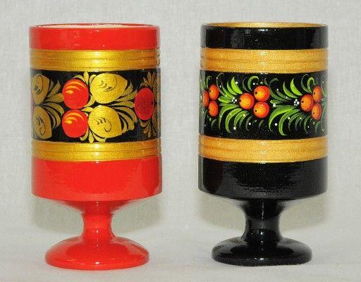 Vyatka souvenir / Painted napkin holder