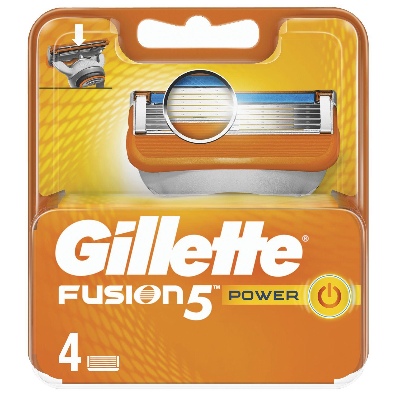 """Replacement shaving cassettes 4 pcs. GILLETTE """"Fusion"""" for men"""