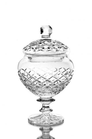 "Crystal vase for sweets with lid ""Lyubava"" colorless"