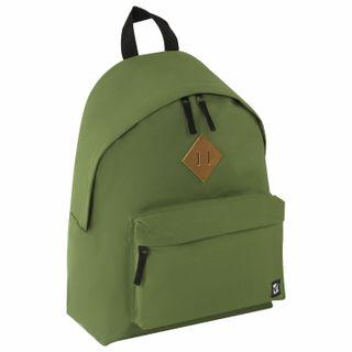 Backpack BRAUBERG, universal, city-format, single tone, green, 20 liters, 41х32х14 cm