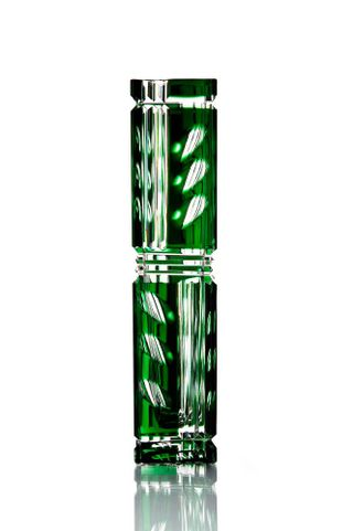 "Crystal vase ""Consul"" tall green"