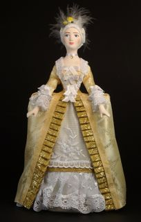 Women's court dress. France. The mid-18th century. Doll gift