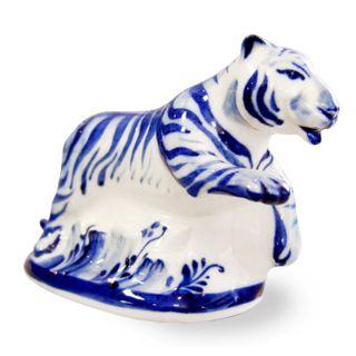 Sculpture Tiger 1st grade, Gzhel Porcelain factory