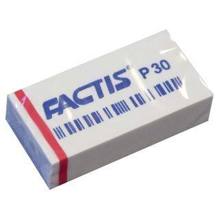 Eraser FACTIS P 30 (Spain), 40х20х10 mm, white, rectangular, soft PVC