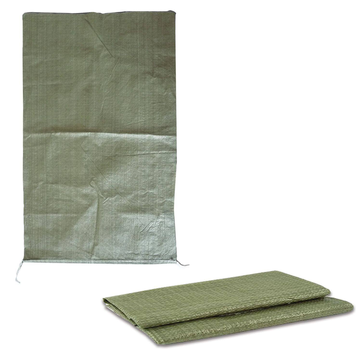 Polypropylene bags up to 50 kg, set of 100 pcs., 95x55 cm, weight 47 g, for construction / household waste, green