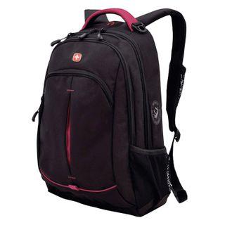 WENGER backpack, universal, black, pink inserts, 22 l, 32х15х46 cm