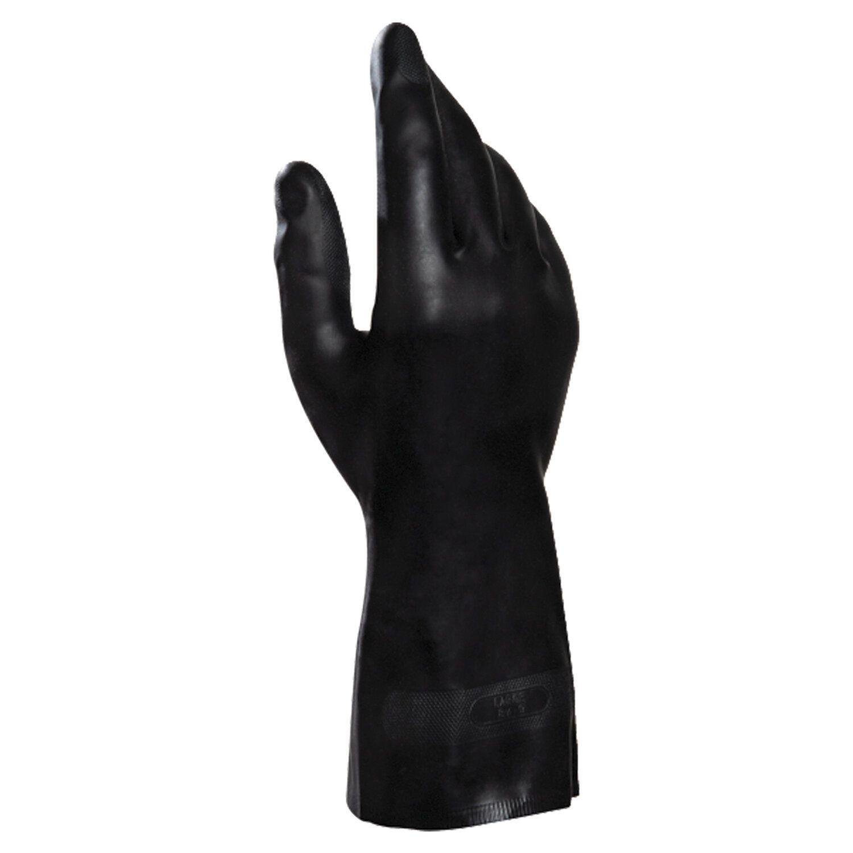 MAPA / Gloves latex-neoprene Technic / UltraNeo 401, cotton dusting, size 7 (S), black