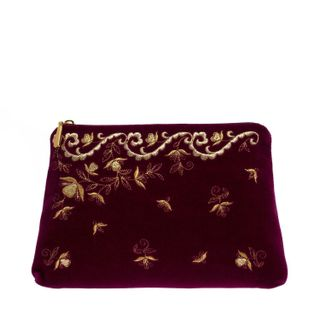 "Bag velvet ""Nefertiti"" burgundy"