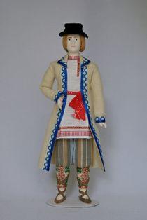 Doll gift. Estonian men's costume mid-19th century. Region: Doldemee. Estonia.