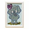 """""""Elephant"""" set for creativity - mosaic from sequins"""