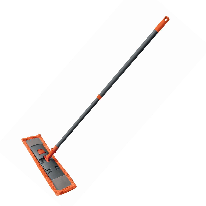 "YORK / Mop ""Classic"" with a flander 40 cm, MOP microfiber (TYPE K), telescopic handle 130 cm, Euro thread"