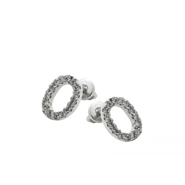 Earrings 30199 'Ovale' Avec Zircon