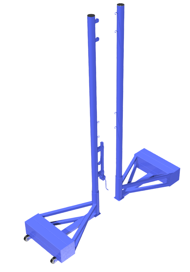 MB Barbell / Outdoor Volleyball Stands (complete with net)