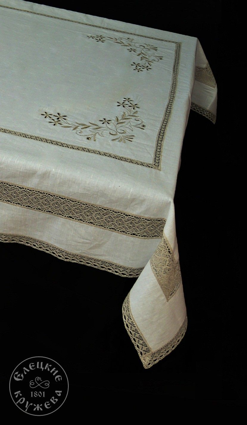 "Yelets lace / Table set ""Tablecloth and napkins"" С524"