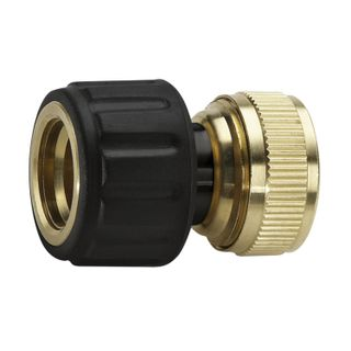 Connector (connector) KARCHER (KERHER), aquastop, hoses 3/4, brass