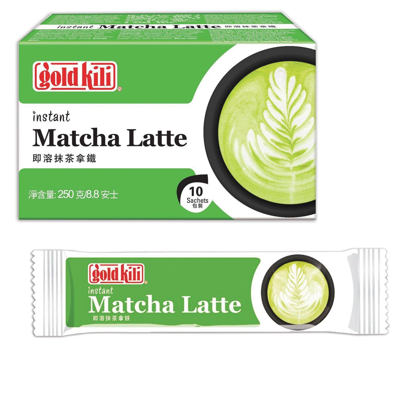 "GOLD KILI / Matcha Latte with ginger instant ""Matcha Latte"", 10 sticks of 25 g each"