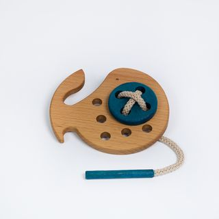 "Lacing ""Kit"" - developing children's wooden toy"