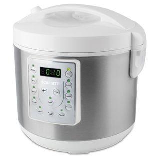 SCARLETT-MC410S25, 900 W, 5 litres, 11 programs, white/silver